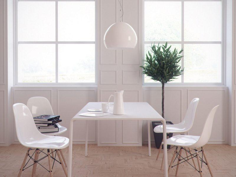 Designe et minimalistisk rom